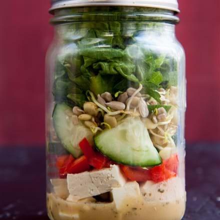 recettes sant nutrisimple salade en pot mason style asiatique. Black Bedroom Furniture Sets. Home Design Ideas