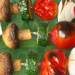 Recette NutriSimple Vegetable skewers