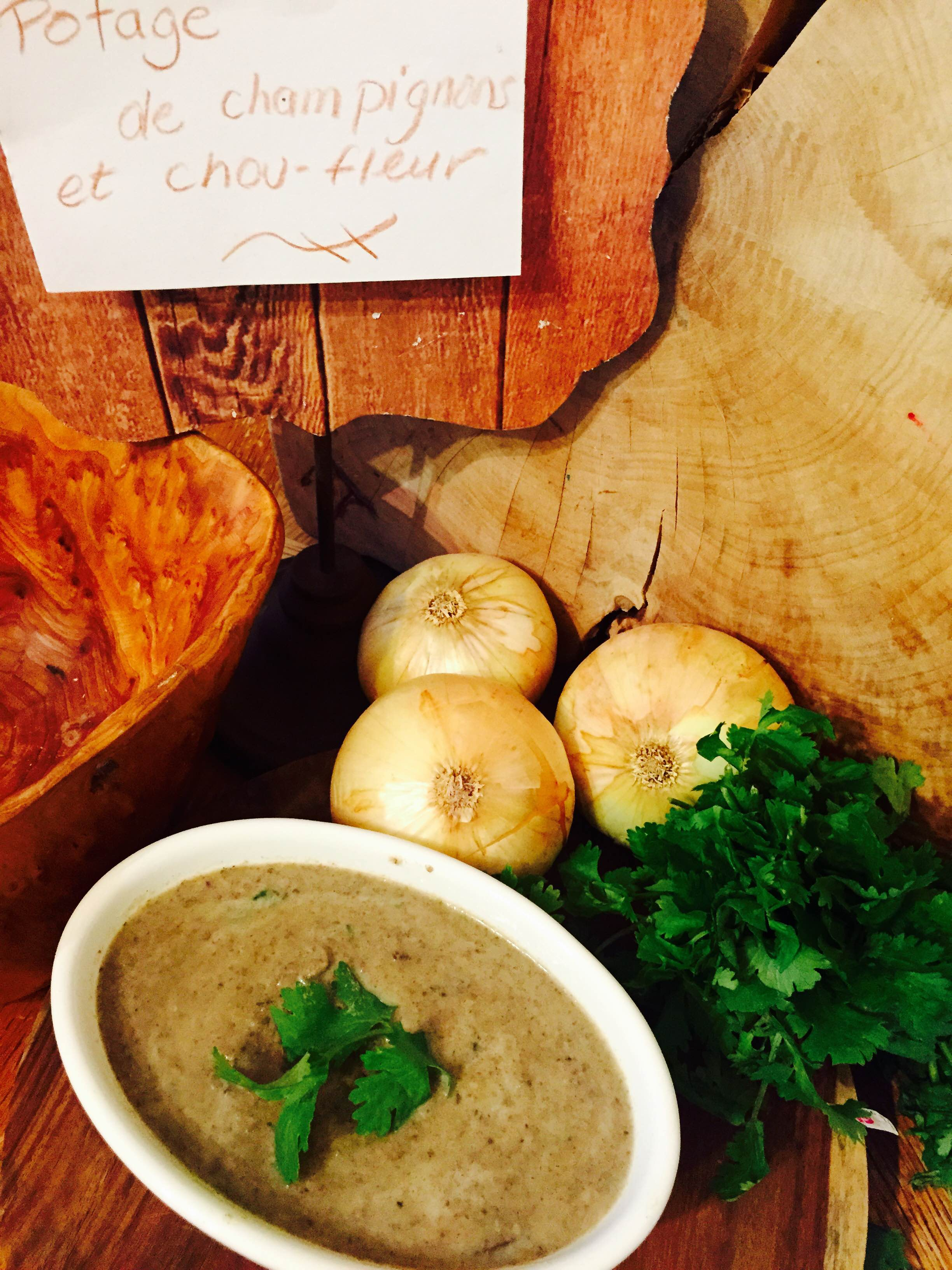 recettes sant nutrisimple potage champignons et chou fleur. Black Bedroom Furniture Sets. Home Design Ideas