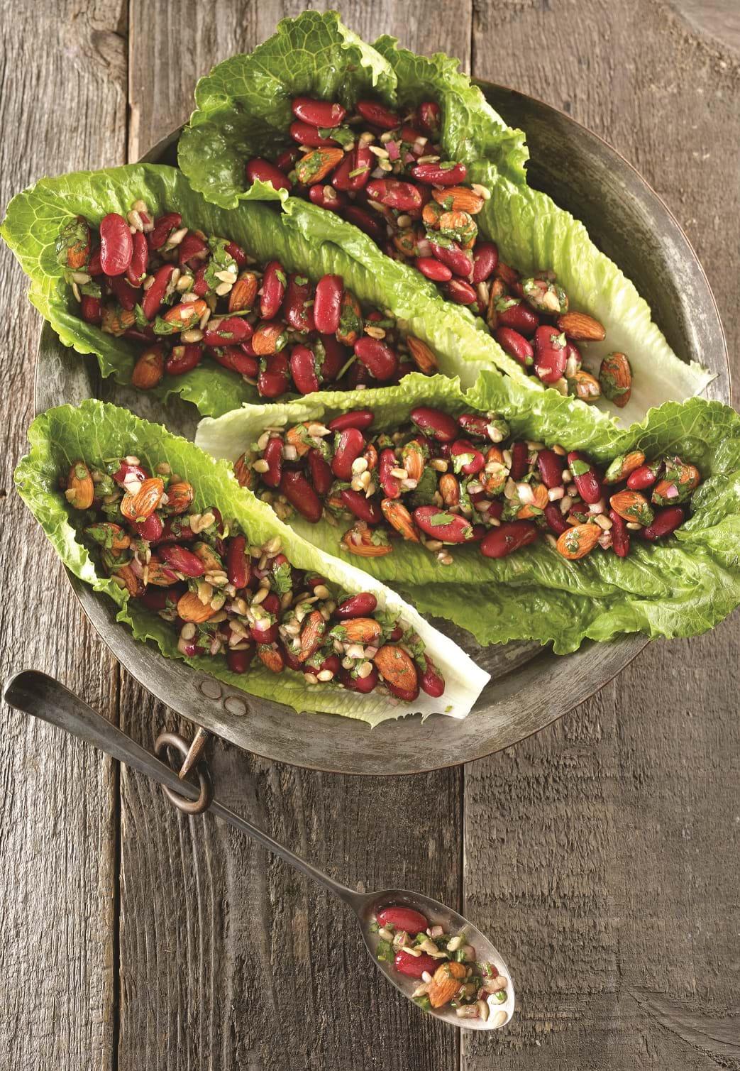 recettes sant nutrisimple salade de haricots rouges aux amandes. Black Bedroom Furniture Sets. Home Design Ideas