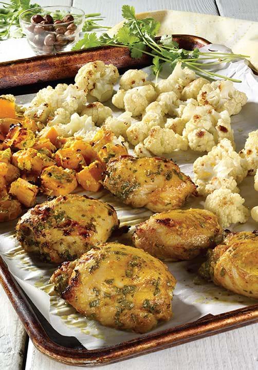 Recettes sant nutrisimple cari de poulet au chou fleur et aux patates douces r ties - Recette poulet patate douce ...