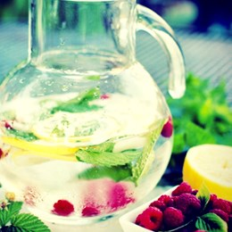 Recette NutriSimple Raspberry and Mint Water