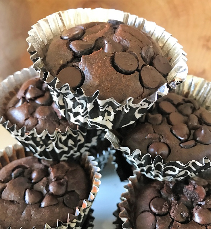 Recette NutriSimple Muffins-brownies aux haricots noirs sans farine