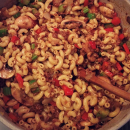 Recette NutriSimple Macaroni chinois